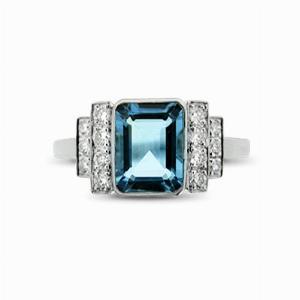 Aquamarine & Diamond Ring - 1.20ct